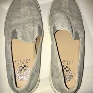 Vince Camuto Gray Woven Slip-On Sneakers